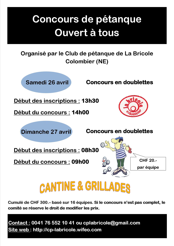 Affiche concours 26 et 26.04.2014
